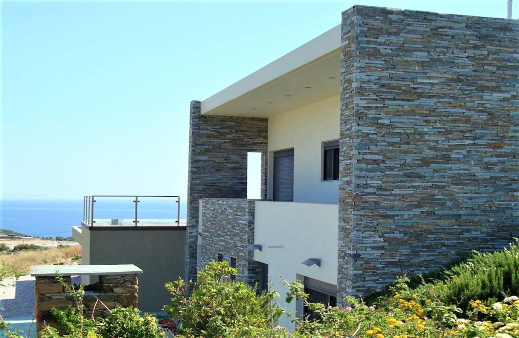 covering external wall with krystose marble